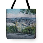 Paris From The Sacre Coeur Montmartre France 2016 Tote Bag