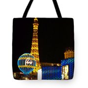 Paris Hotel At Night Tote Bag