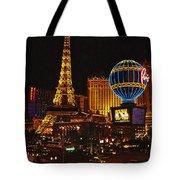 Paris In Las Vegas-nevada Tote Bag