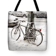 Paris In Snow Tote Bag