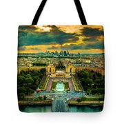 Paris Landscape Tote Bag