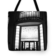 Paris Louis Vuitton Boutique - Louis Vuitton Paris Black And White Art Deco Tote Bag