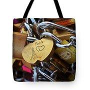 Paris Love Locks Paris France Color Tote Bag