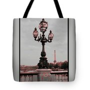 Paris Luminaires And Eiffel Tower Tote Bag