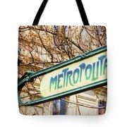 Paris Metro Sign Color Tote Bag