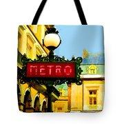 Paris Metro Stop Tote Bag