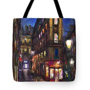 Paris Old Street Tote Bag