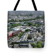 Paris Panorama From The Eiffel Tower Tote Bag
