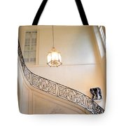 Paris Rodin Museum Staircase - Rod Iron Black Staircase Archictecture - Paris Museum Staircase Print Tote Bag