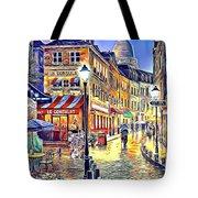 Paris Street Abstract 2 Tote Bag