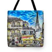 Paris Street Abstract 3 Tote Bag