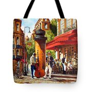 Paris, Street Musicians Tote Bag
