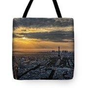 Paris Sunset Tote Bag