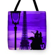 Paris Tour Eiffel Violet Tote Bag