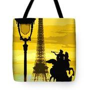 Paris Tour Eiffel Yellow Tote Bag