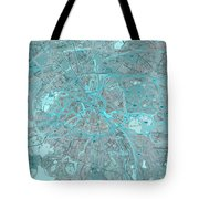 Paris Traffic Abstract Blue Map Tote Bag