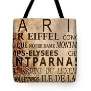 Paris Vintage Poster Tote Bag by Delphimages Photo Creations