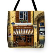 Parisian Bistro And Butcher Shop Tote Bag by Marilyn Dunlap