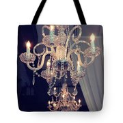 Parisian Crystal Chandelier - Chandelier In Window - Paris Gold Crystal Chandelier Decor Tote Bag