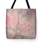 Parisian Romantic Collage Tote Bag