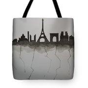 Parisian Skyline Silhouette Tote Bag