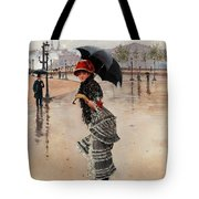 Parisienne On A Rainy Day Tote Bag