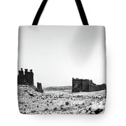 Park Avenue At First Light - Arches National Park Tote Bag