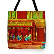 Park Avenue Montreal Cafe Scene Tote Bag