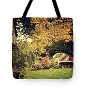 Park Bench, Fall Tote Bag