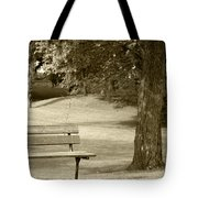 Park Bench In A Park Tote Bag
