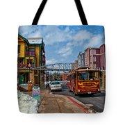 Park City Trolley Car Tote Bag
