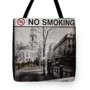 Park Street Station Sign Tote Bag