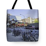 Parked Bikes In Dumbo Tote Bag