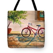 Parked In The Courtyard Tote Bag