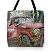 Parked On A Country Road Watercolors Painting Tote Bag