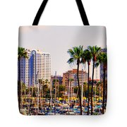 Parking And Palms In Long Beach Tote Bag