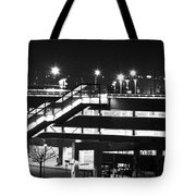 Parking Garage At Night Tote Bag
