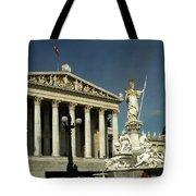 Parliament In Vienna Austria Tote Bag