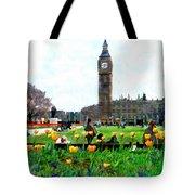 Parliament Square London Tote Bag by Kurt Van Wagner
