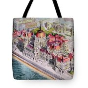 Parliment Of Hungary Tote Bag