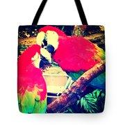 Parrot Couple Tote Bag