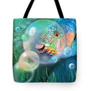 Parrot Fish - Through A Bubble Tote Bag