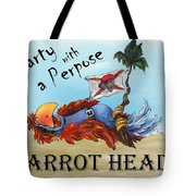 Parrot Heads Tote Bag