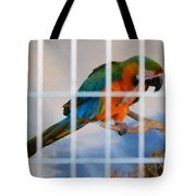 Parrot In A Cage Tote Bag