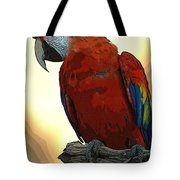 Parrot Watching Tote Bag