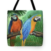 Parrots In Light And Shade Tote Bag