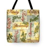 Parsley Collage Tote Bag