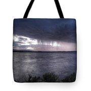 Parting Skies Over Union Reservoir Tote Bag