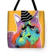 Party Cat- Art By Linda Woods Tote Bag