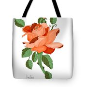 Party Colored Rose Tote Bag